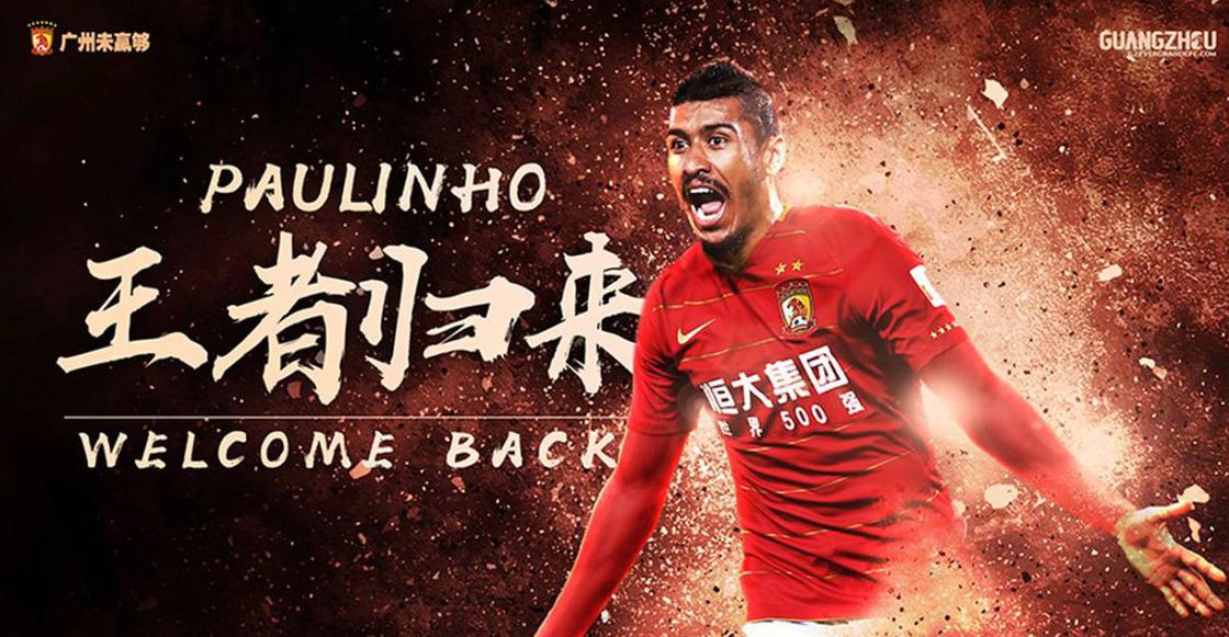 ¡Se acabó la novela! Paulinho regresa al Guangzhou Evergrande