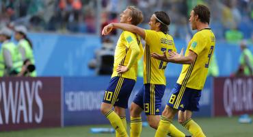 ¡Uno y ya! Suecia eliminó a Suiza y se metió a Cuartos de Final