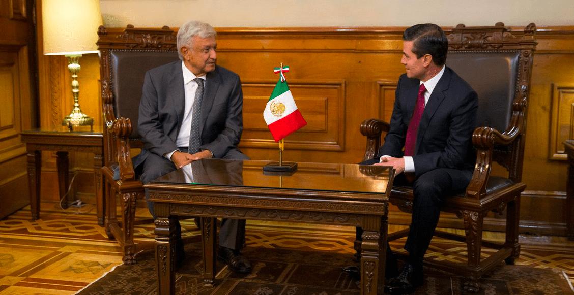 Reunión entre AMLO y EPN Palacio Nacional