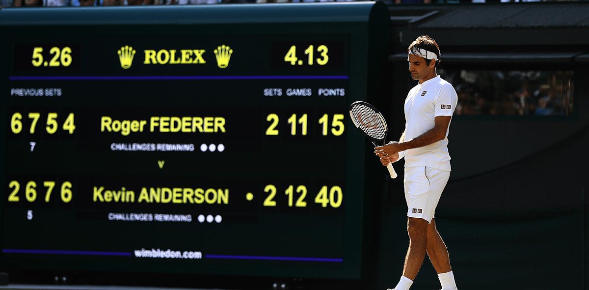 ¡Wimbledon sin 'Rey'! Roger Federer fue eliminado por Kevin Anderson