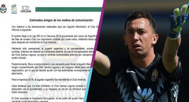 Santos le responde a Marchesín: