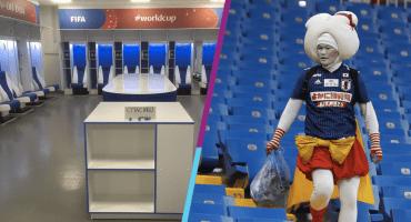 ¡Clases de Educación! La Selección de Japón limpia vestidor y da las gracias