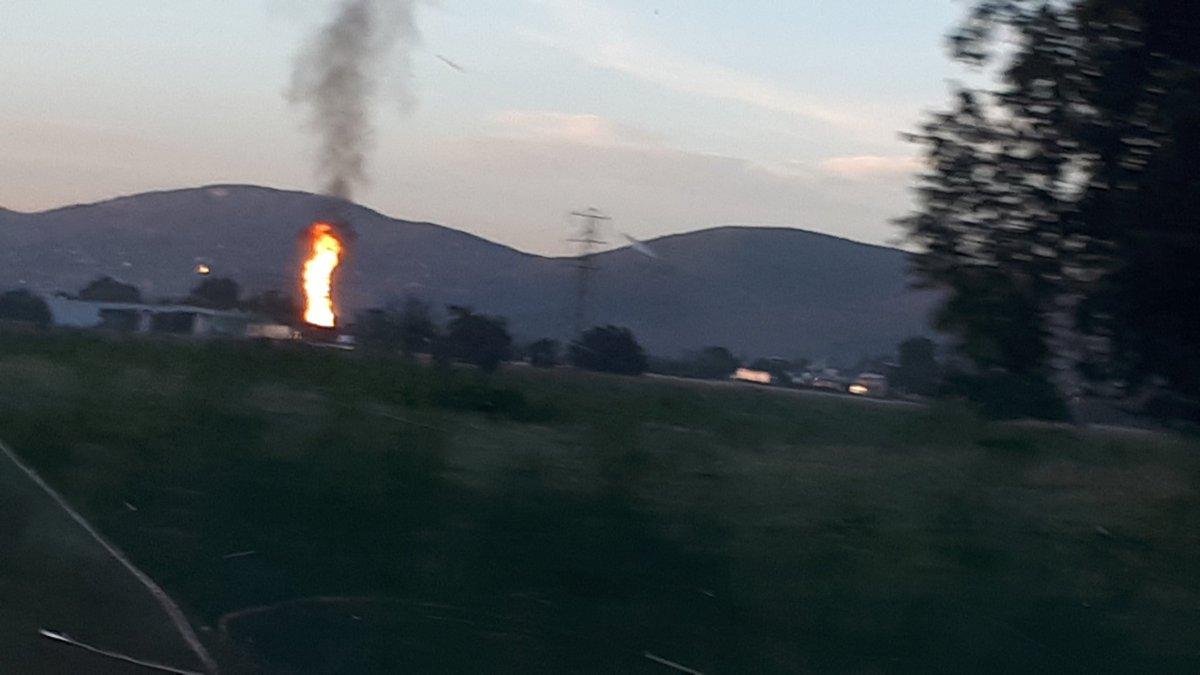 Explosión en ducto de gas LP, en Puebla
