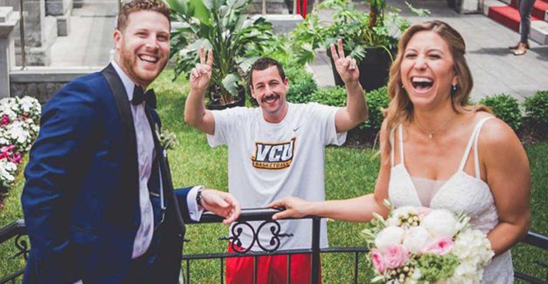 Adam Sandler se coló en la sesión fotográfica de unos recién casados porque YOLO