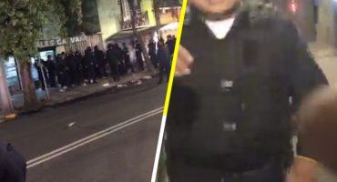 ¡El colmo! Policías agreden a dos reporteros en la colonia Doctores