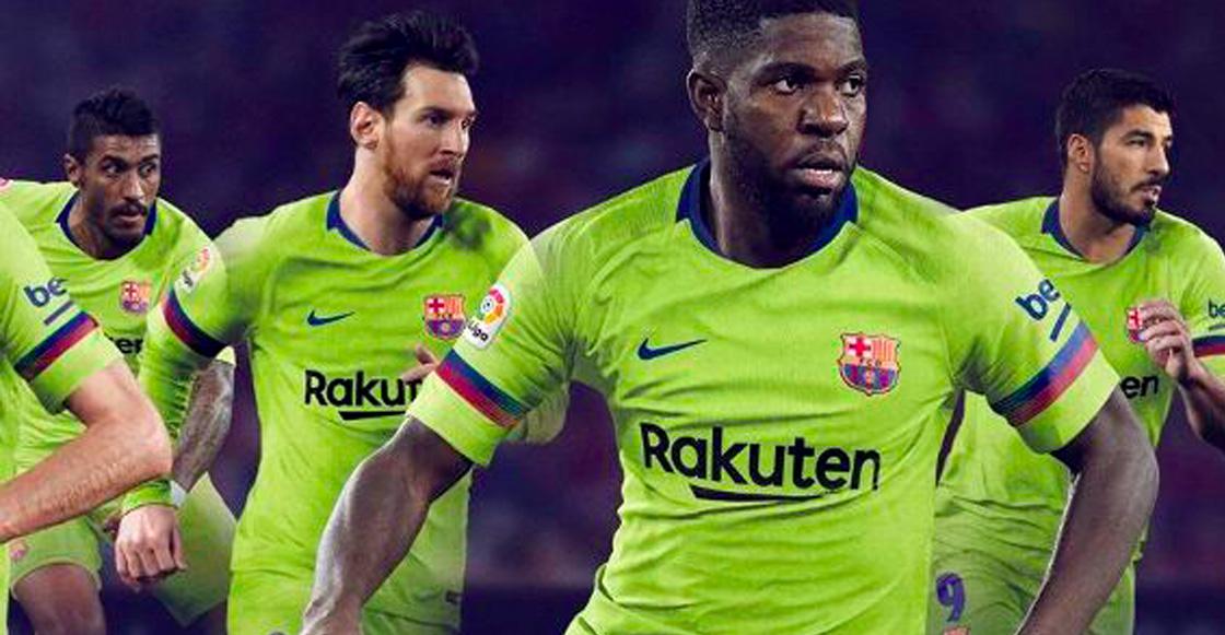 Barcelona presenta su nuevo uniforme 18 19 y... ¿brilla en la oscuridad  3f3b8fbd12c41