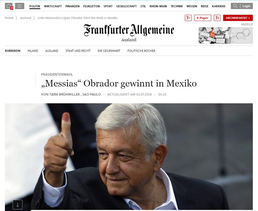 ¿Qué dice la prensa internacional sobre el nuevo presidente de México?