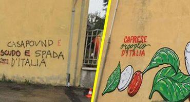 ¿Deli-art? Cibo, el artista urbano que cambia mensajes racistas por comida