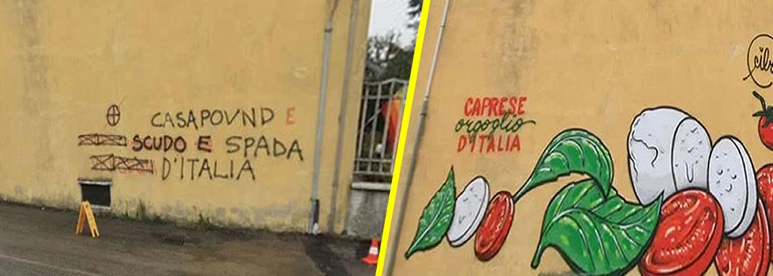 Cibo, el artista urbano que cambia mensajes racistas por comida