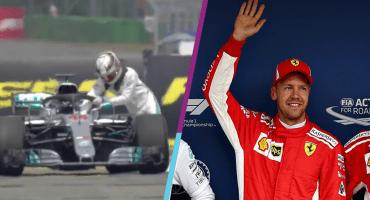 Vettel se queda con la Pole y Hamilton tuvo que empujar su auto