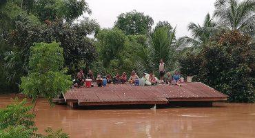 Derrumbe de presa en Laos, se reporta desaparición de cientos de personas