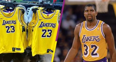 ¿El regreso del Showtime? Filtran el nuevo jersey de los Lakers