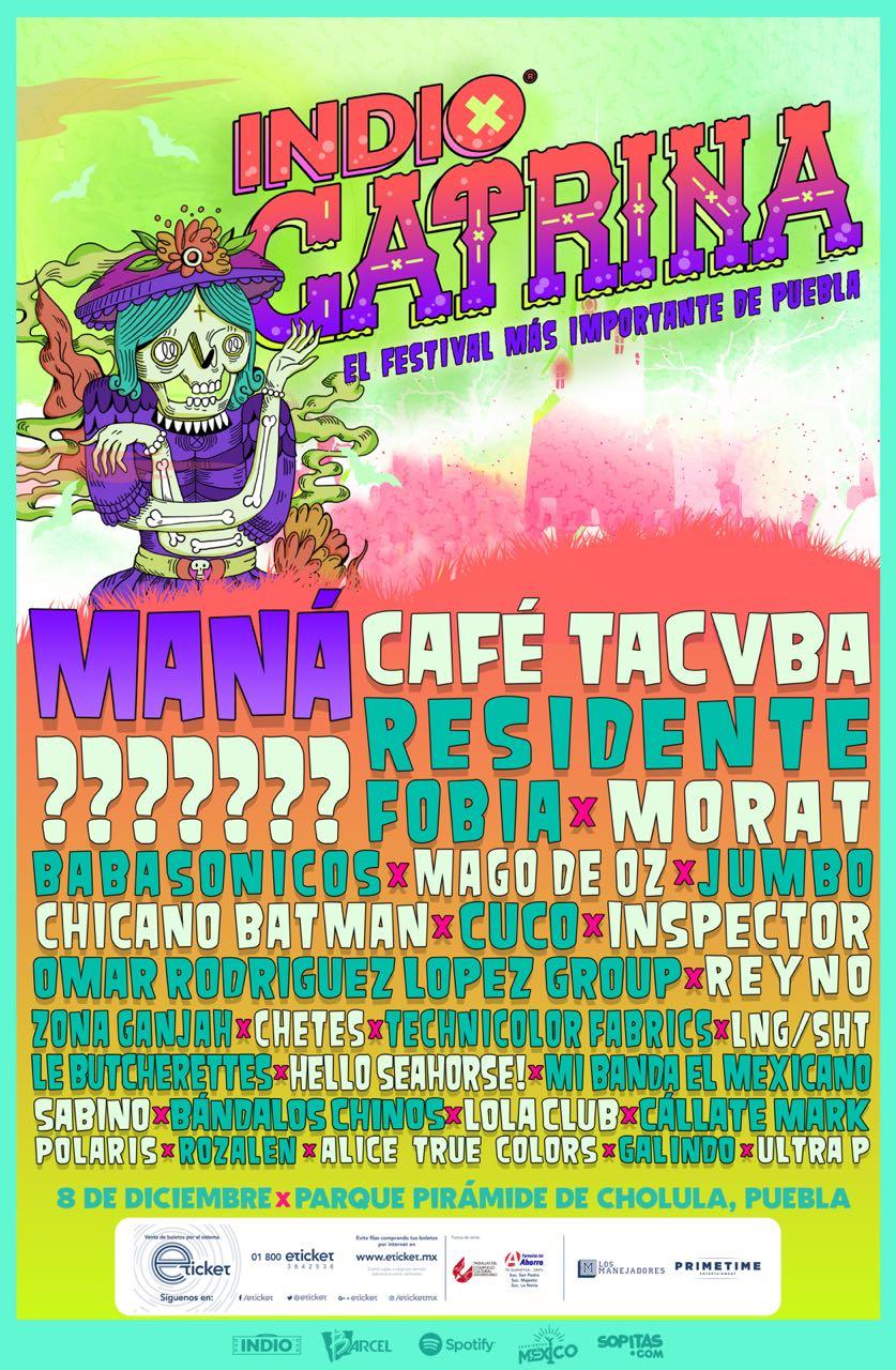 ¡Café Tacvba, Fobia, Babasónicos en el Festival Catrina!