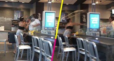 Mundo enfermo y triste: Quiso 'refresco gratis'; empleada de McDonald's la golpea