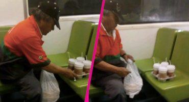 Operadores del metro hicieron llorar a un señor por no llevarles café