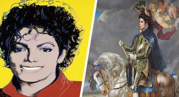 ¡Beat it! Así luce Michael Jackson como obra de arte