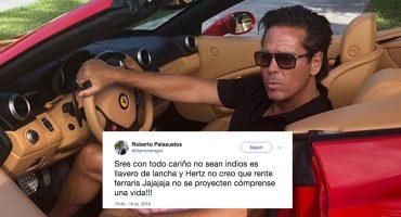 Fíjate, Paty: Palazuelos dice que no sean indios, que su Ferrari no es rentado