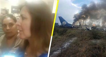 Una pasajera narró como fue el accidente de Aeroméxico en Durango