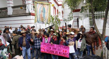 Pobladores de Atenco solicitan a AMLO que cancele el NAIM