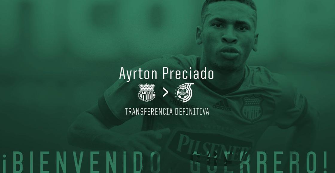 Ayrton Preciado confirma su pase al fútbol mexicano