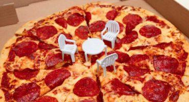 ¿Qué? Ahora las 'mesitas' de la pizza ya vienen con sillas incluidas 😂
