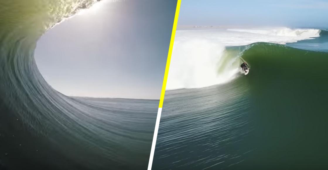 Un surfista logró imágenes increíbles dentro un túnel en el mar