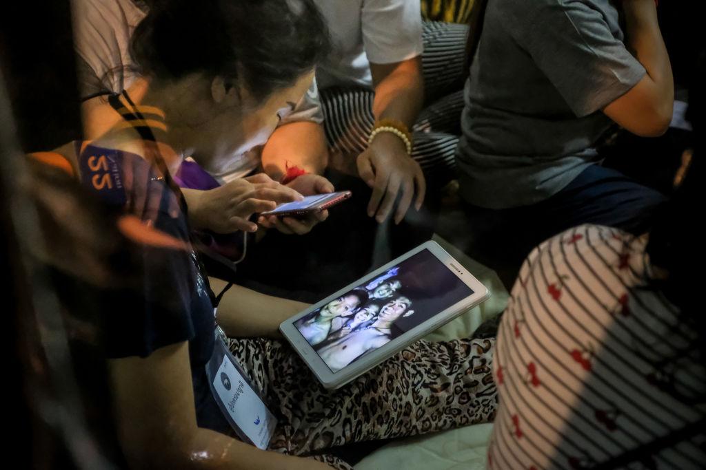 Equipo de rescate en Tailandia