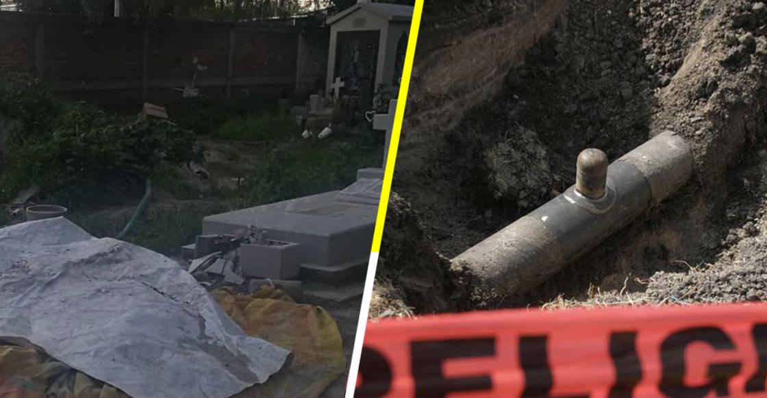 En CDMX encontraron una toma de combustible ilegal...¿en un panteón?