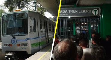 ¡Aguas! Reportan fallas (y mucha lentitud) en el Tren Ligero