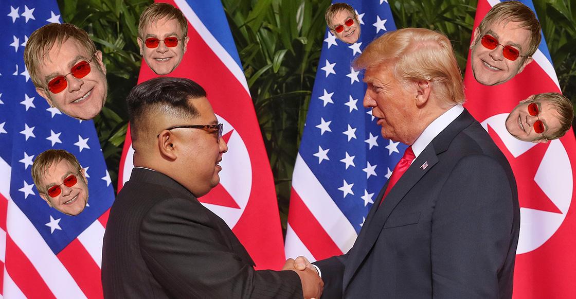 WTF?! Donald Trump le regaló un disco de Elton John a Kim Jong-un