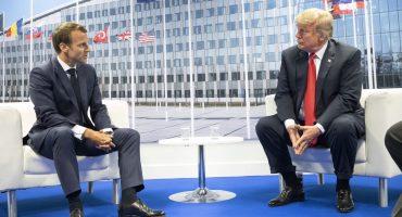 Pese a discusión por gasto en defensa, Trump nunca amenazó con salir de la OTAN: Macron