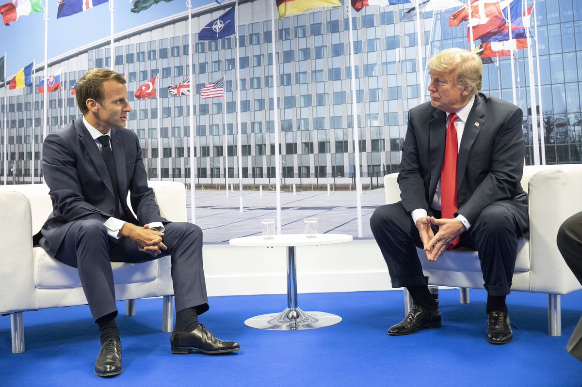 Macron y Trump en la OTAN