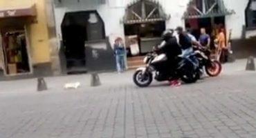 Video capta el momento del robo a una joven en el Centro Histórico