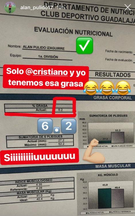 ¡Ooooora! Alan Pulido compara su físico con el de Cristiano Ronaldo