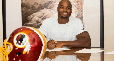 Adrian Peterson tendrá otra oportunidad en la NFL con los Redskins