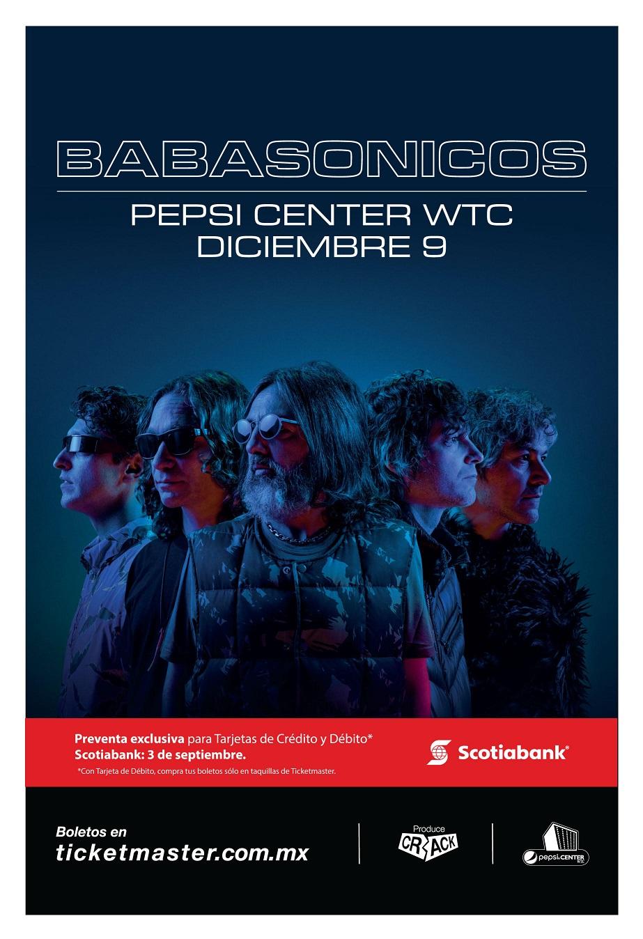 Babasónicos regresará a México para dar un concierto en el Pepsi Center