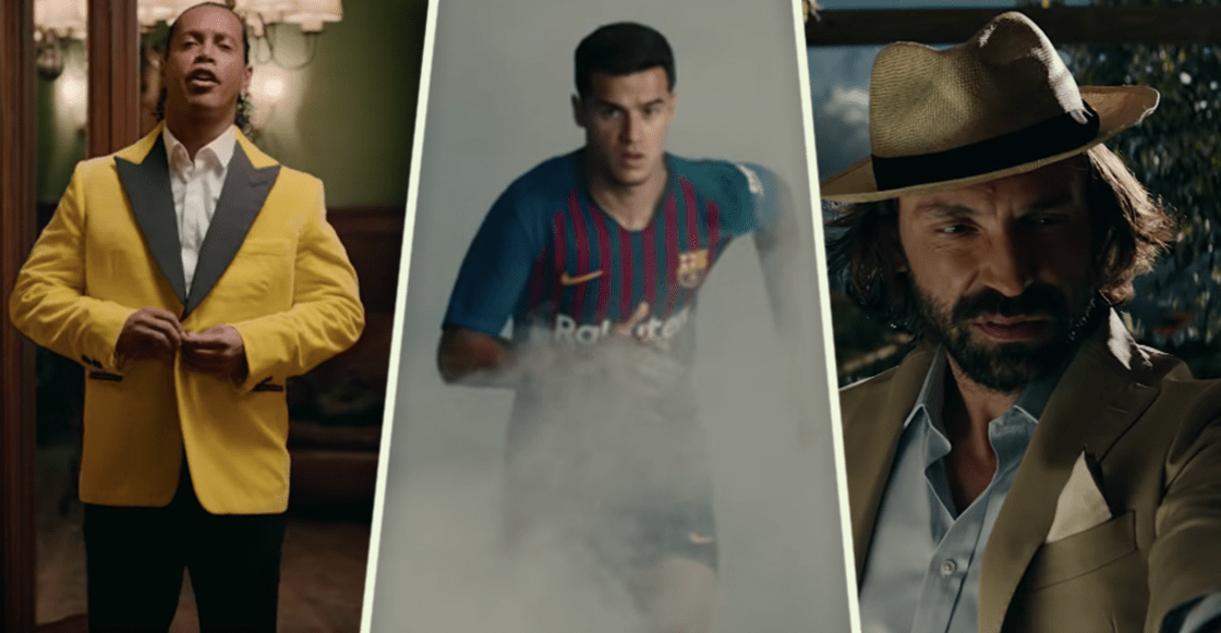 Coutinho, Pirlo, De Bruyne y Ronaldinho en el nuevo comercial de Nike