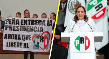 ¿'Agachones'? El 'dipuhooligan' empaña toma de protesta de Ruiz Massieu en el PRI