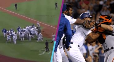 Así se puso la bronca entre Dodgers y Gigantes en Grandes Ligas
