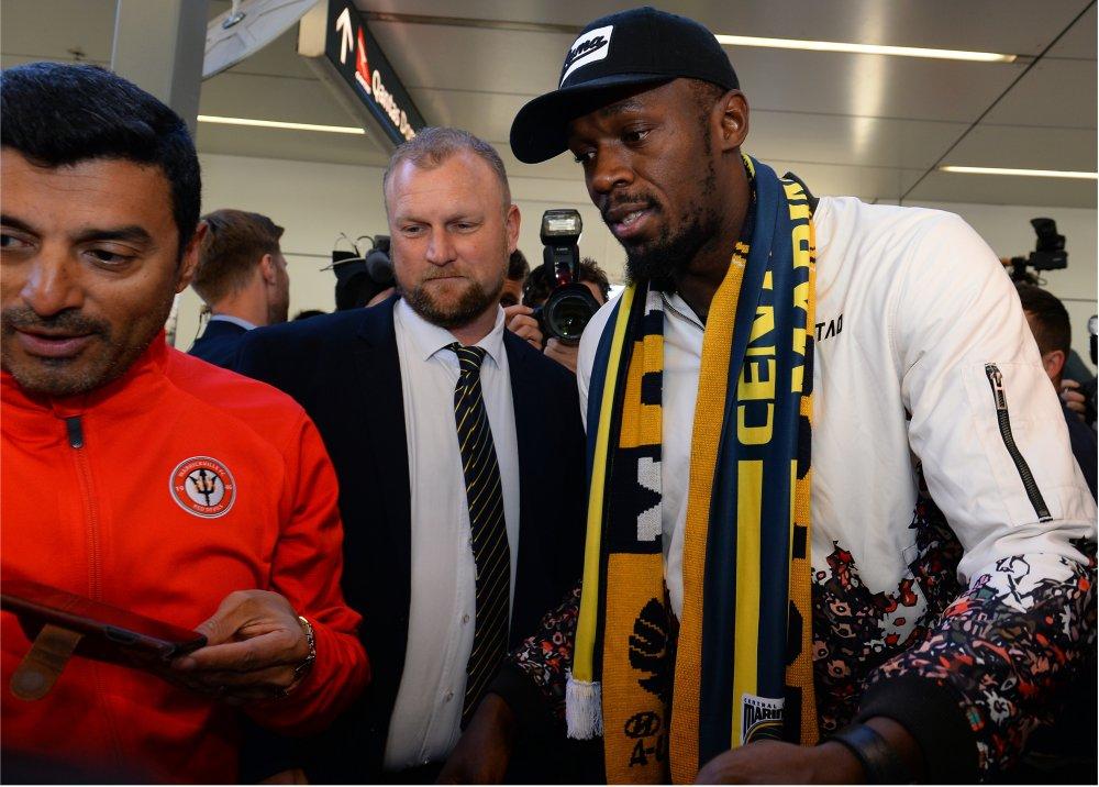 Usain Bolt reportó en Australia para probarse con Central Coast Mariners