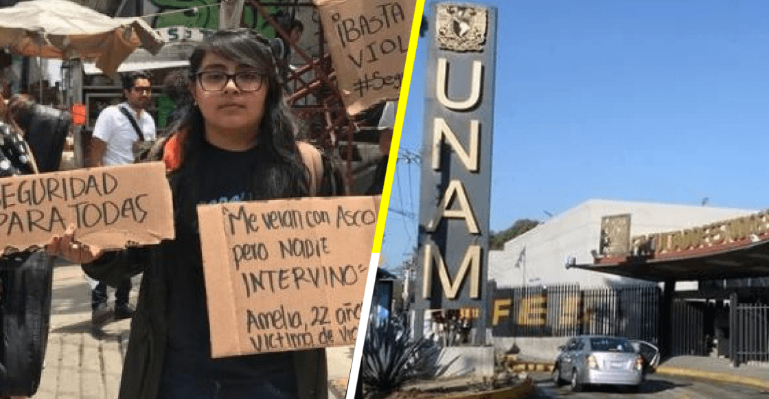 Estudiantes de la FES Acatlán protestan por la violación contra una de sus compañeras