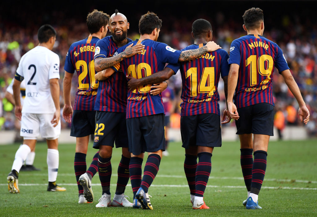 15 imágenes del partido por el Joan Gamper entre Barcelona y Boca Juniors