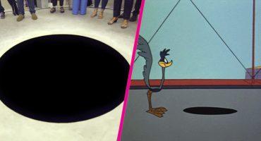 Como en las caricaturas: Sujeto cayó dentro de un agujero negro que creyó falso