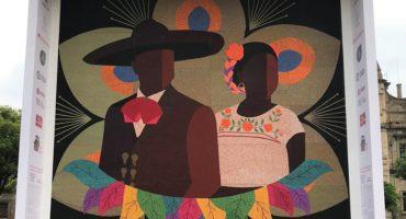 Indígenas wixárikas ganan Record Guinness por el mosaico más grande del mundo