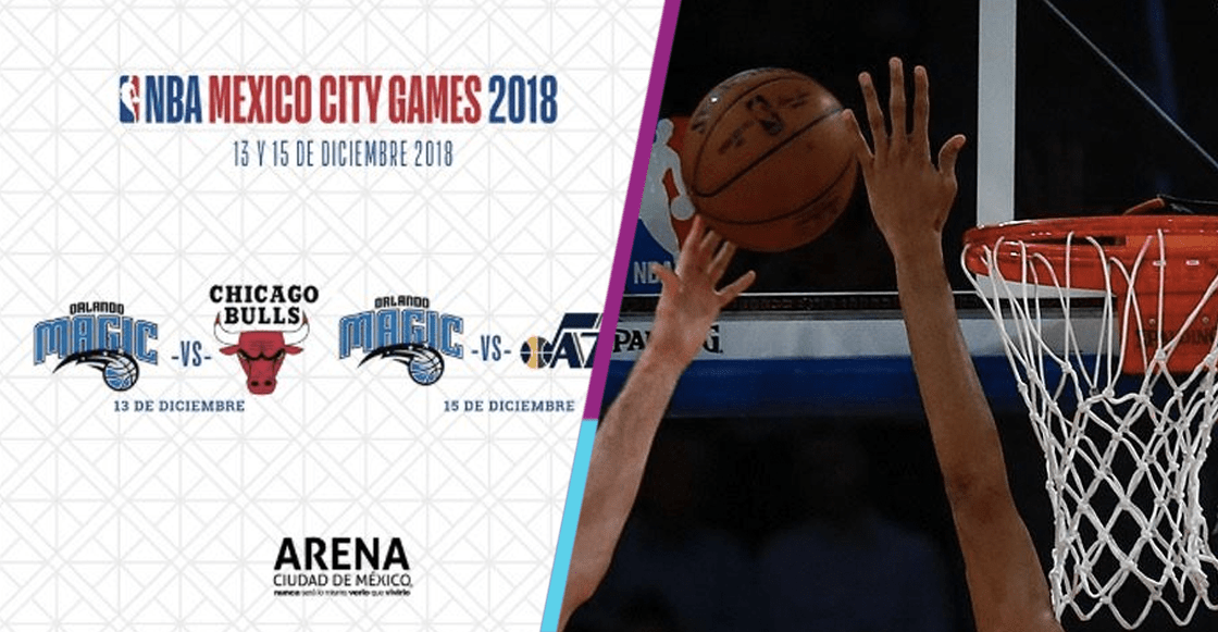 Chicago Bulls y Utah Jazz jugarán ante Orlando Magic en México