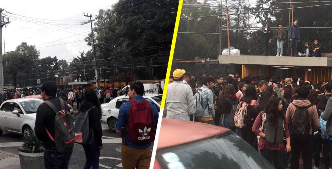 Tras protesta en CCH Azcapotzalco, toman las instalaciones de la Prepa 5