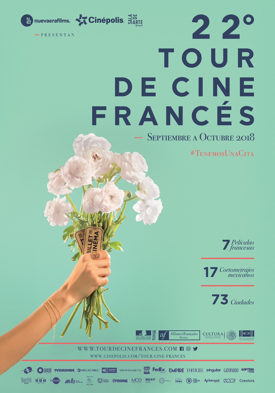 Estas son las 7 películas que participarán en el 22º Tour de Cine Francés