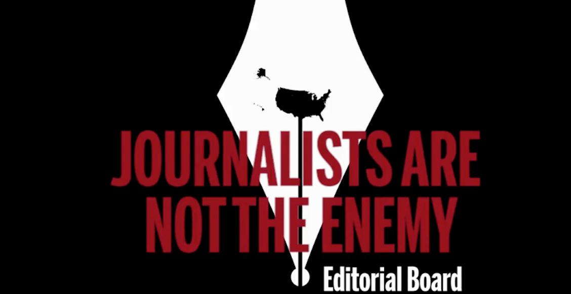 'Los periodistas no son el enemigo': la respuesta de la prensa a Trump