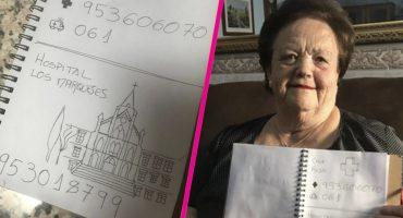 Su abuela no sabe leer; durante 20 años le hizo una agenda telefónica con dibujos 😍