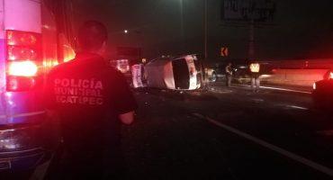 Accidente en la México-Pachuca deja saldo de 15 personas heridas y un muerto